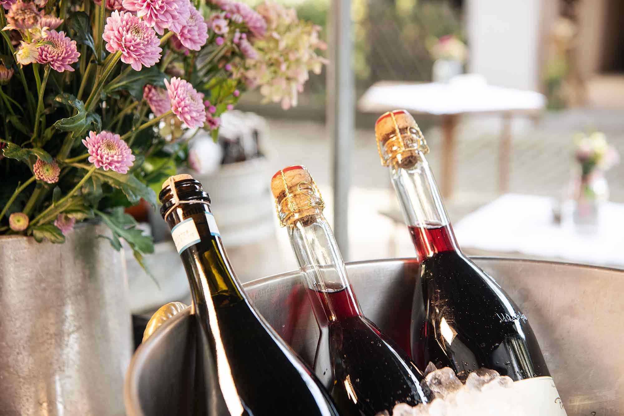 Eselsmühle Event Detail Weinflaschen