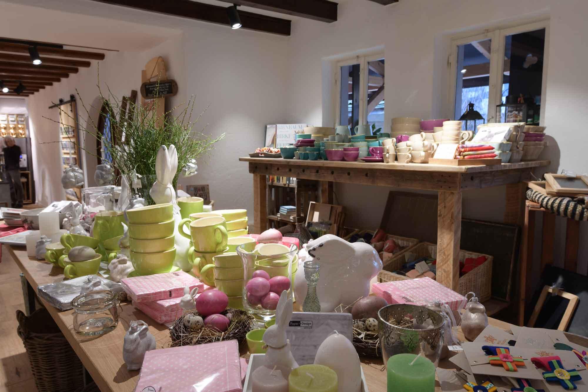 Eselsmühle Kaufladen Tischdekoration